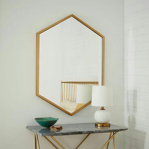 Cermin Kuningan Heksagonal