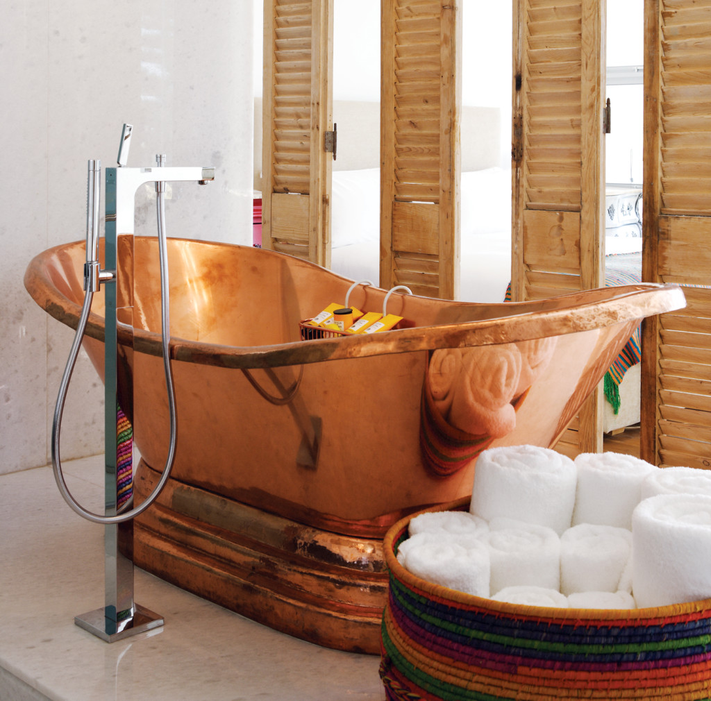 Bathtub Tembaga Glossy Rose Gold