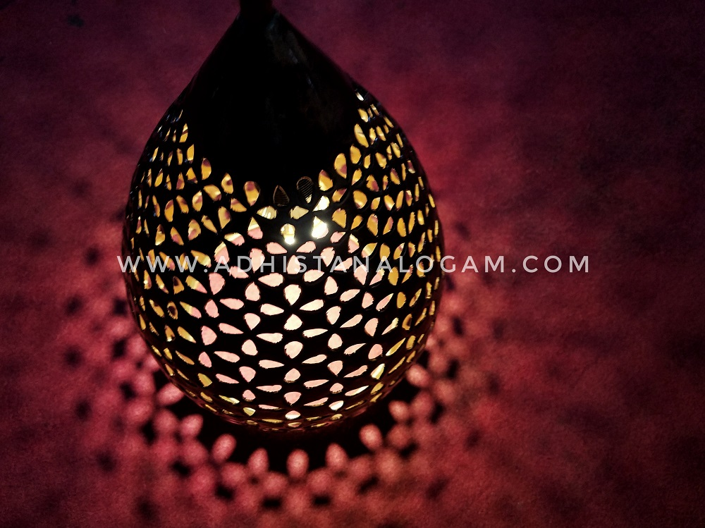 Lampu Tembaga Motif Batik Kawung