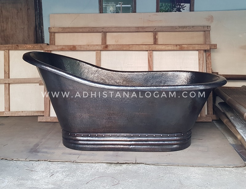 Copper Bathtub fin. Black Oxidation