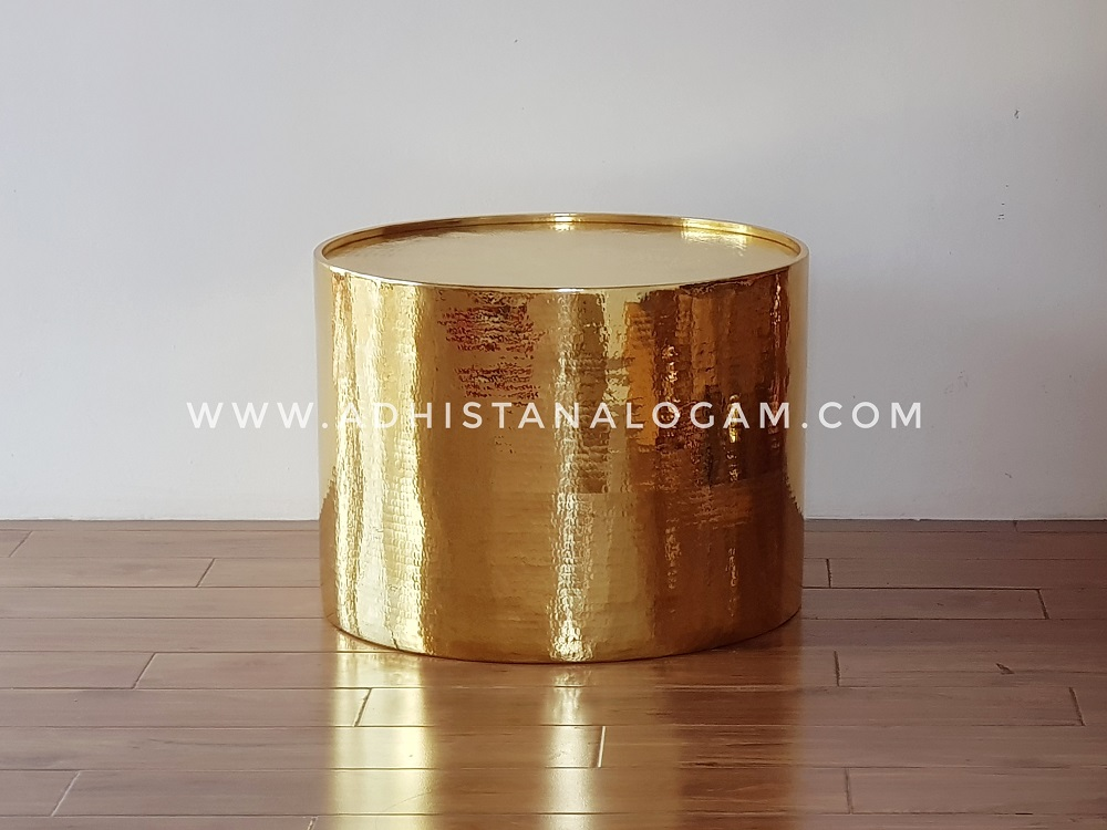 Coffee Table / Meja Kuningan Glossy Gold